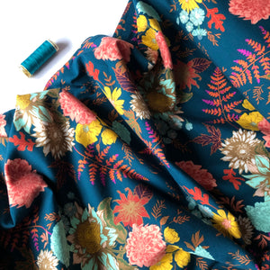 Art Gallery Fabrics - Floral Glow Twilit in Knit from Autumn Vibes
