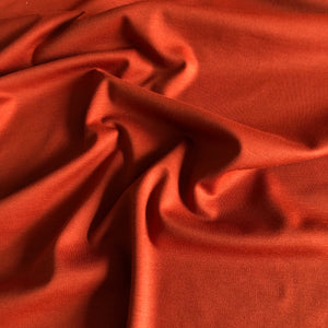 Modelo - Ponte Roma Jersey Fabric - Burnt Orange