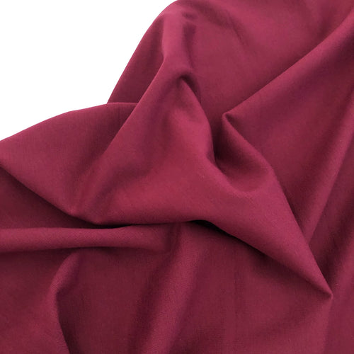 Red Plum Viscose Ponte Roma Double Knit Fabric