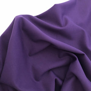 Spectral Violet Viscose Ponte Roma Double Knit Fabric