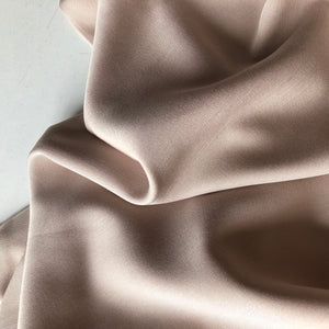 REMNANT 1.89 meters Grandeur Champagne Modal Bamboo Lyocell Twill Dress Fabric