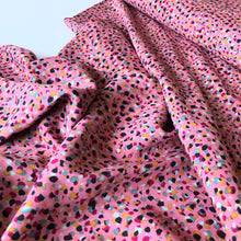 Gemstones Pink Viscose Dress Fabric