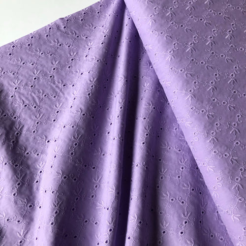 Lizzy Lilac Cotton Broderie Anglaise
