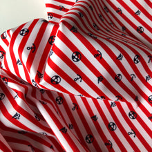 Nautical Stripes Red - Swim & Active Wear Fabric