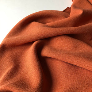 Flow Rust Viscose Linen Blend Dress Fabric (more due soon)