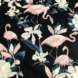 Botanical Flamenco Midnight Cotton Lawn