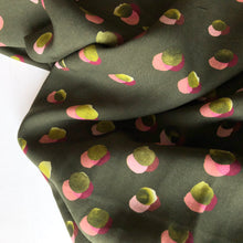 Lady McElroy - Showering Dots Olive Tencel High-Twist Lawn Dress Fabric