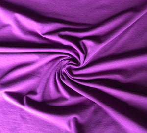 REMNANT 1.11 meter Essential Mauve Plain Cotton Spandex Jersey Fabric