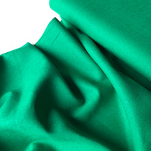 Emerald Green Linen Viscose Blend