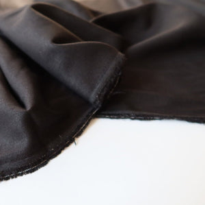 Black Linen Viscose Blend Fabric
