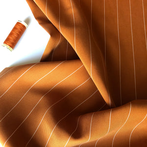 Tencel Pin Stripe Twill - Rust