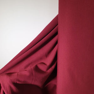 REMNANT 0.50 meter Red Plum Viscose Ponte Roma Double Knit Fabric