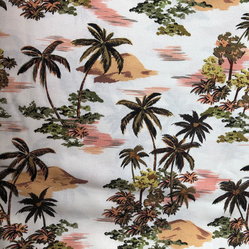 Hawaiian Palms Linen Viscose Blend