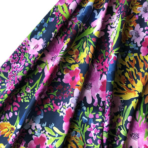 Lady McElroy - Fields of Flowers Navy Viscose Dress Fabric