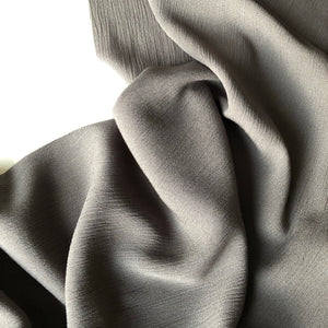 Crinkled Viscose Grey Dress Fabric