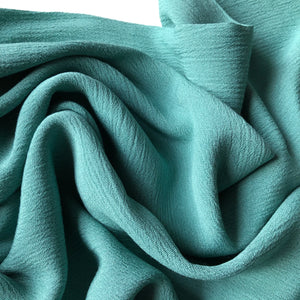 Crinkled Viscose Mint Green Dress Fabric