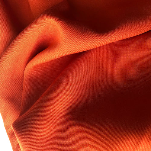 REMNANT 1.20 meters Grandeur Orange Modal Bamboo Tencel Twill Dress Fabric