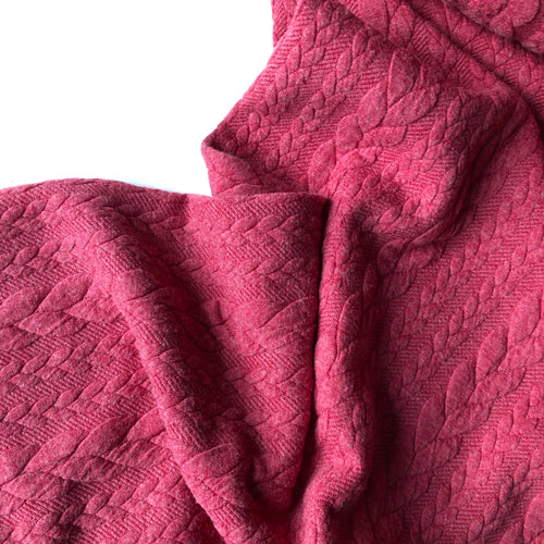 Vintage Cable Knit Jersey Raspberry