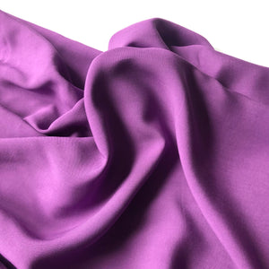 REMNANT 1 meter Elegance Purple Viscose Dress Fabric