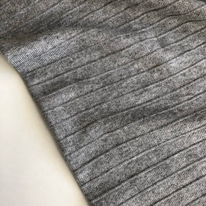 REMNANT 0.34 meter Grey Melange Double Sided Rib Knit Fabric
