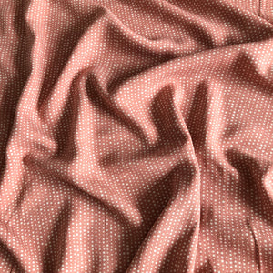 Dotty Dream Pink Viscose Crepe Dress Fabric