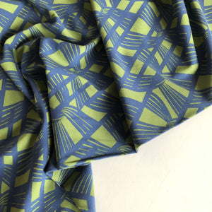 Linked Together - Cotton Jersey (Blue/ Green)
