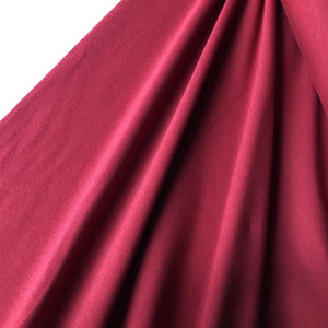 REMNANT 1 meter Essential Red Plain Cotton Spandex Jersey Fabric