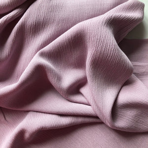 Crinkled Viscose Mauve Dress Fabric