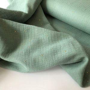 Dew Drop Wild Eucalyptus Cotton Double Gauze
