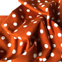 Danish Design - Polka Dot Rust Cotton Jersey