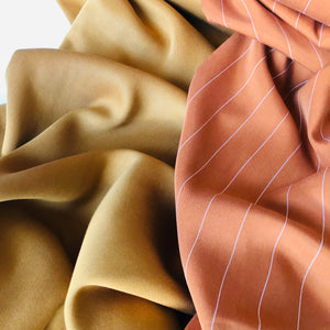 Gold Sanded Twill Fabric with Tencel lyocell Fibres