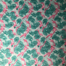 REMNANT 1.28 meters Aquatic Carp Cotton Dobby Dress Fabric