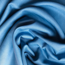 Grandeur Blue Modal Bamboo Twill Dress Fabric