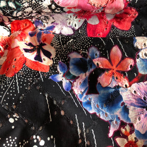 Summer Fusion Black Broderie Anglaise Cotton Fabric