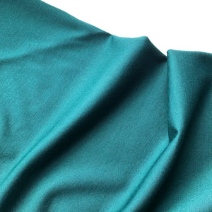 REMNANT 0.57 meter Forest Green Viscose Ponte Roma double Knit Fabric
