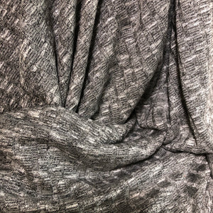 Melange Grey Wide Rib Knit Fabric