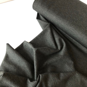 Black Melange Viscose Ponte Roma Double Knit Fabric