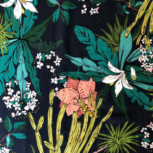 Lady McElroy - Floridian Focused - Navy Viscose Dress Fabric