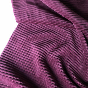 Grape Ribbed Velvet Jersey