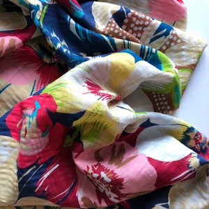 Summer Bouquet Cotton Viscose Dress Fabric