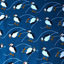 Puffins Organic Cotton Knit Fabric