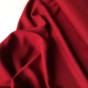 Grandeur Red Wine Viscose Twill Dress Fabric