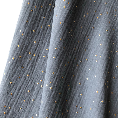 Starry Night Grey Cotton Double Gauze Cotton