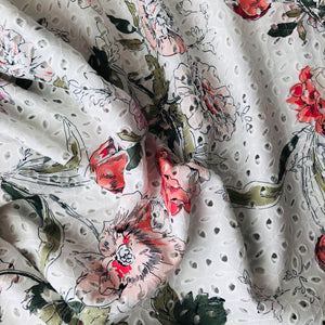 Lizzie Broderie Anglaise Cotton Fabric
