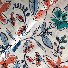 Beautiful Blooms Blue Rayon Dress Fabric