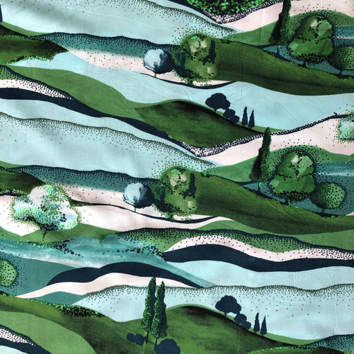 REMNANT 1 meter Dorset Fields from Woodlands Rayon Dress Fabric