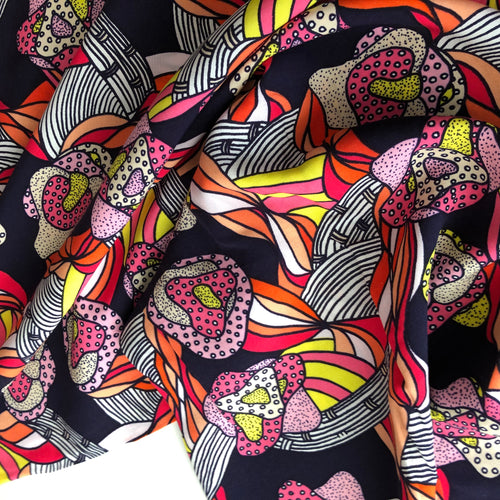 REMNANT 2.51 meters Retro Pink Viscose Rayon Dress Fabric