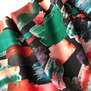 Brushstroke Scarlett Cotton Lawn Dress Fabric
