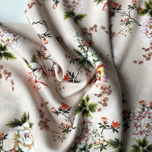 Lady McElroy - Fifties Floral Rosewater Viscose Crepe