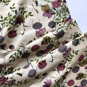 Danish Design - Watercolour Plants Cotton Jersey